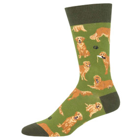golden retrievers mens socks