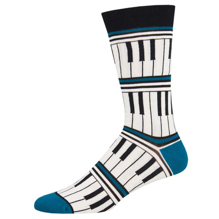 piano stripe mens socks