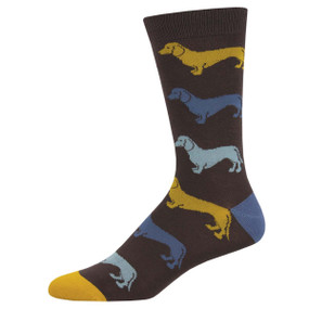 dachshund mens socks