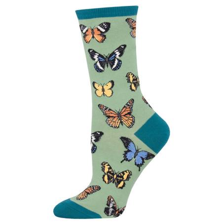 majestic butterflies womens socks