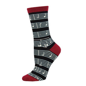 sheet music womens socks