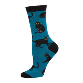 black cat womens socks