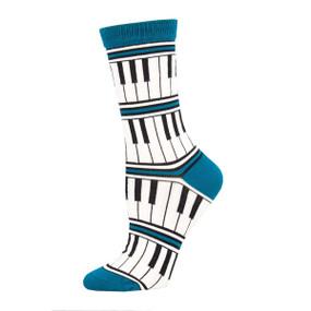 piano stripe womens socks