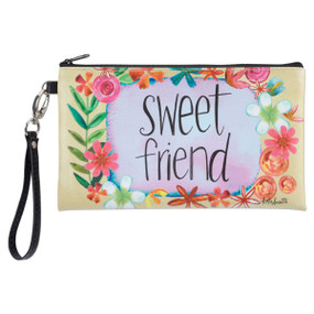 sweet friend zippered bag