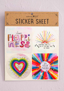choose happiness sticker sheet
