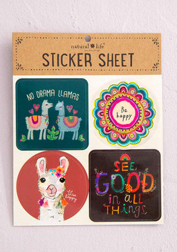 no drama llama's sticker sheet