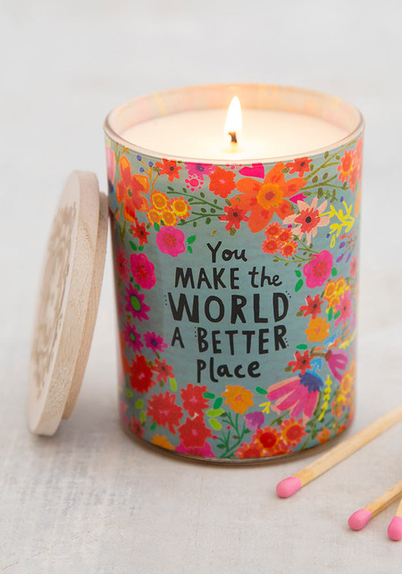 make the world a better place soy candle