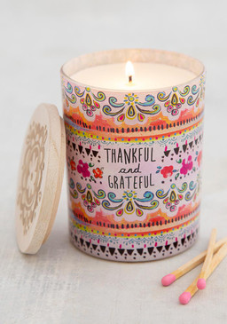thankful and grateful soy candle