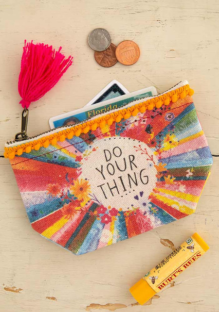 do your thing mini canvas pouch