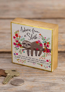 advice from a sloth tiny block