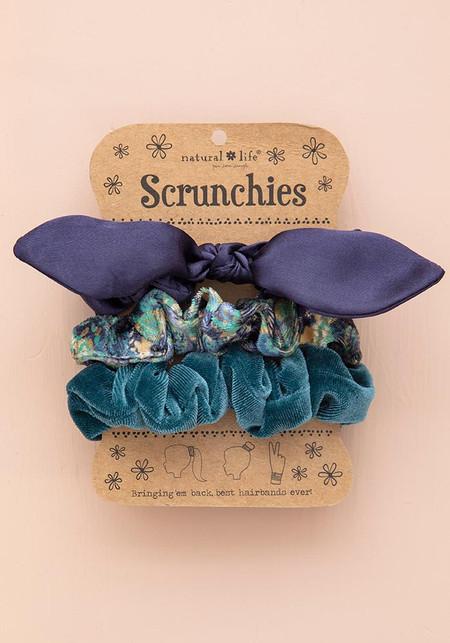 navy bow scrunchies