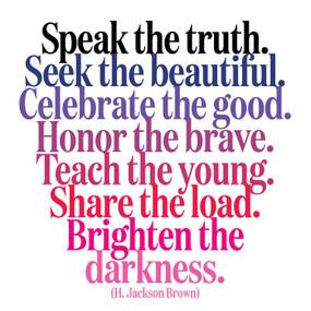 speak the truth inspirational card