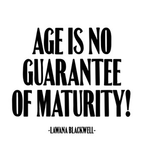 age is no guarantee just for laughs card