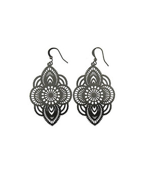 black funkii filigree earrings