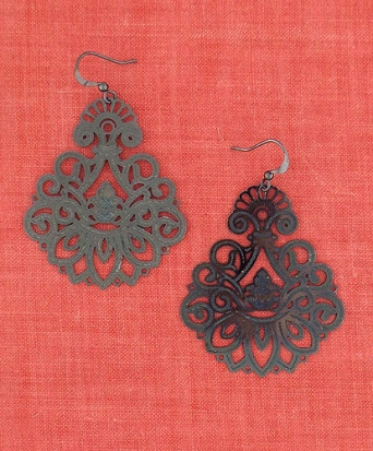 black novosibirsk funkii earrings