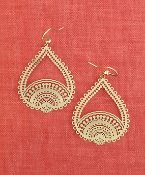 gold annecy filigree earrings