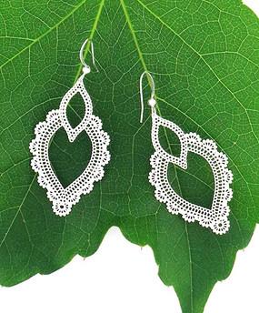 silver jurine filigree earrings