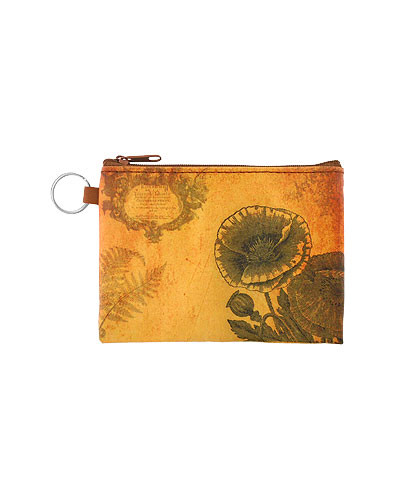 poppy vegan leather coin purse, front