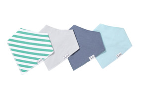 baby bandana bib set, oxford