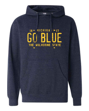 go blue university of michigan hoodie