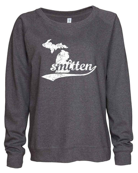smitten with the mitten slouchy sweatshirt