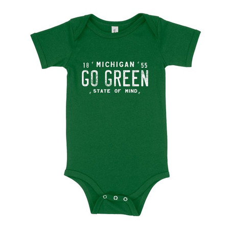 go green michigan state onesie