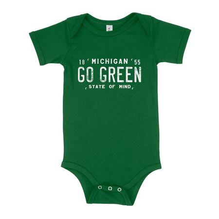 go green michigan state onesie