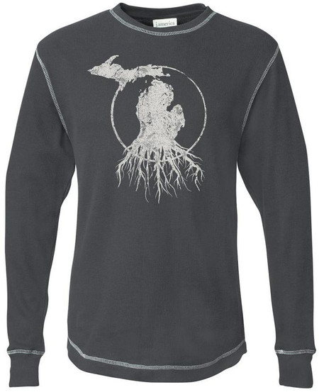 MI roots long sleeve thermal unisex, small