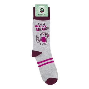 i'm a winosaur womens socks
