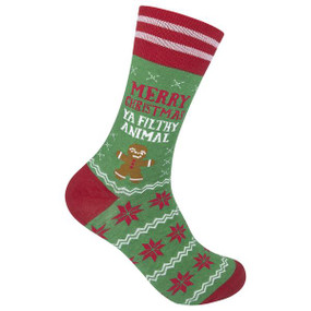 merry christmas ya filthy animal mens socks