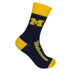 michigan wolverines mens socks