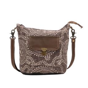 indigo shoulder bag, front