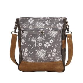 blossom print shoulder bag, front