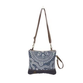 sapphire crossbody bag, front