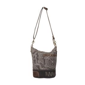 vintage carved shoulder bag, front