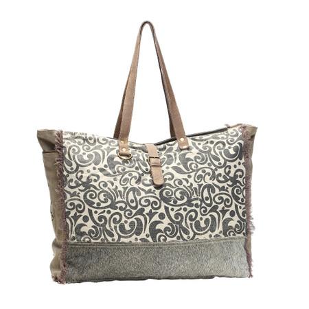 floral print weekender bag, front