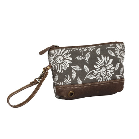 sunflower pouch, front