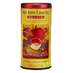 hot apple cider herbal tea