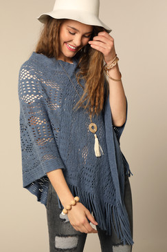 soft crochet knit poncho