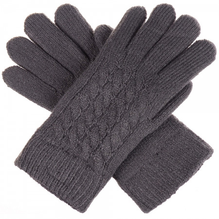 double layered gloves charcoal