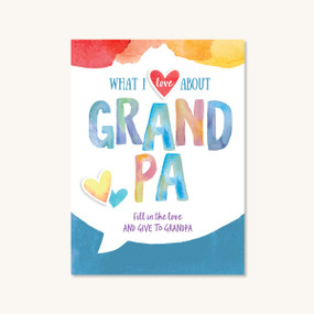 what I love about grandpa, front cover