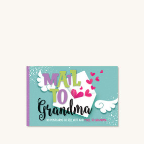 mail to grandma postcards, front cover