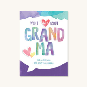 what I love about grandma book, front cover