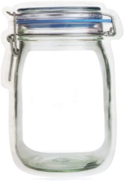 zipper mason jar bag - large