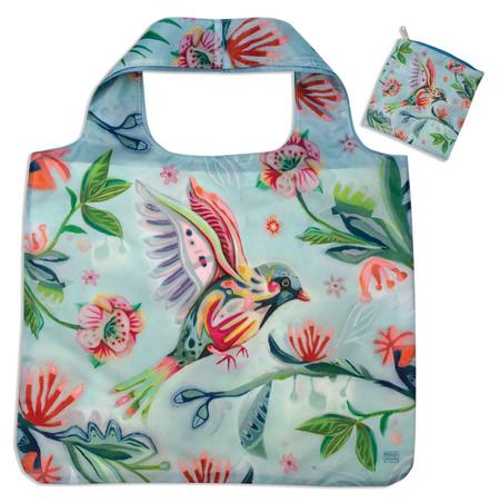 bird fabric foldable bag