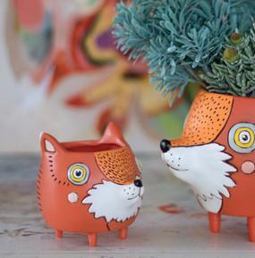 baby fox planter