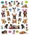 eyelike stickers: puppies, inside