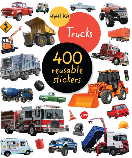 eyelike stickers: trucks, front cover