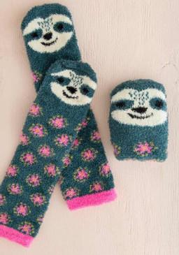 sloth cozy socks