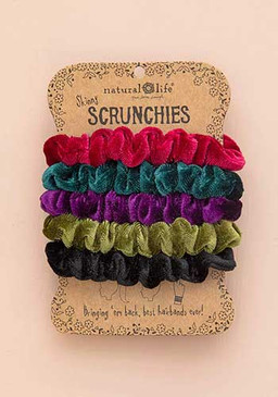 jewel tone velvet scrunchies set of 5